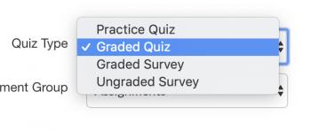 Canvas quiz types